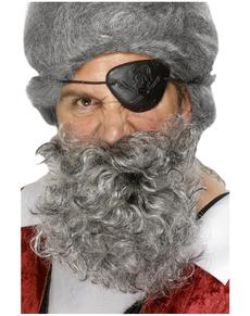 Barba da pirata grigio