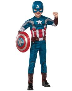 Costume da Capitan America Soldato d'Inverno classico retrò da bambino