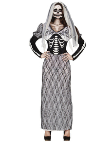 Costume da sposa scheletro da donna