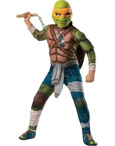 Costume da Michelangelo muscoloso Tartarughe Ninja Movie da bambino