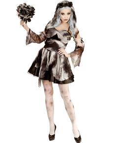 Costume da sposa della morte zombie da donna