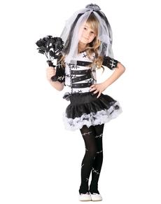 Costume da sposa cadavere da bambina
