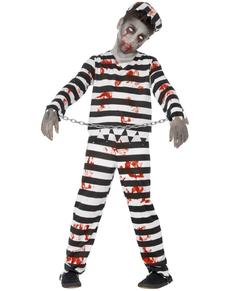 Costume da recluso zombie bambino