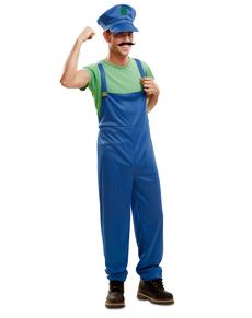 Costume da idraulico compagno d'avventure per uomo