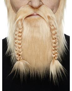 Barba e baffi biondi da vichingo per adulto