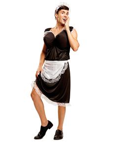 Costume da cameriera prosperosa per uomo