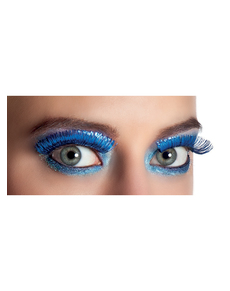 Ciglia blu metallizzate per donna