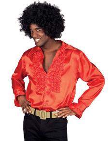 Camicia rossa da ballo latinoamericano per uomo