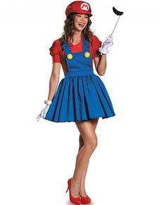 Costume Brillante Super Mario per donna