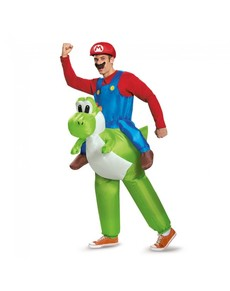 Costume Mario Bross ride on Yoshi per adulto