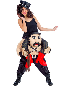 Costume da stripper sado Ride On per donna