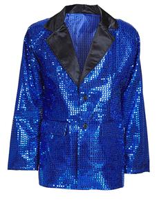 Giacca blu con paillettes per uomo
