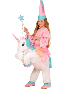 Costume in sella all'unicorno per bambina