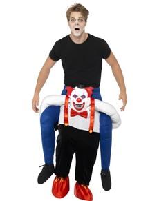 Costume da pagliaccio inquietante Ride On per adulto